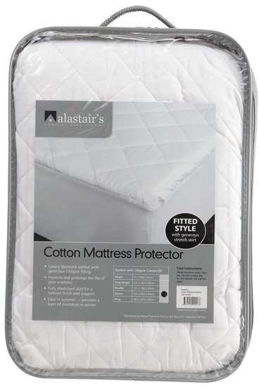 Alastair 45cm Wall Cotton Mattress Protector King Single
